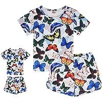ModaIOO Conjunto de pijama de unicornio de sirena a juego para niña