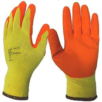 Garden Clothing & Gear Latex Coated Orange Rubber Work Gloves Per Pair