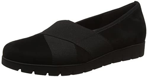 8f43e30d2902 Gabor Shoes Damen Comfort Sport Geschlossene Slip On Schuhe, Schwarz (47  Schwarz),