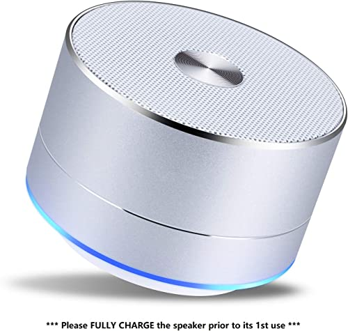 Foxica Lenrue 5-Hour Play Time Bluetooth 4.1 Speaker with Big Sound, Portable Wireless Speaker with Built-in Mic for iPhone, iPad, Samsung, Pixel, Laptops and More Silver