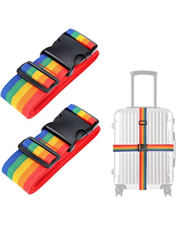 Luxebell Correas para Equipaje, Cinturones de la Maleta, Accesorios de Viaje (Paquete de