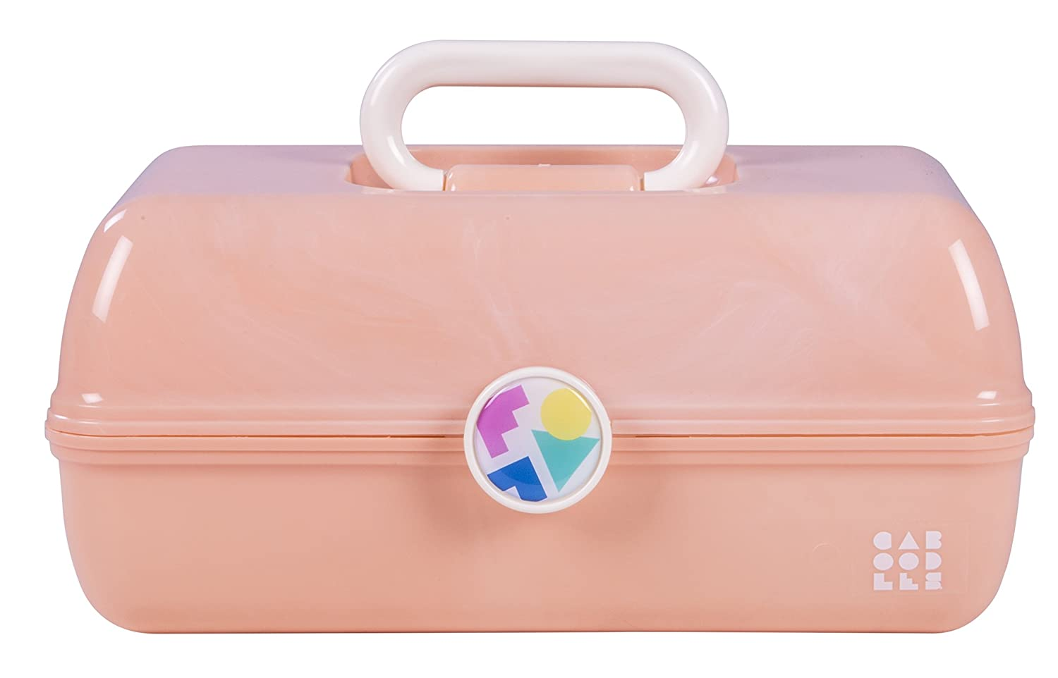Caboodles On-The-Go Girl Peach Marble Vintage Case, 1 Lb