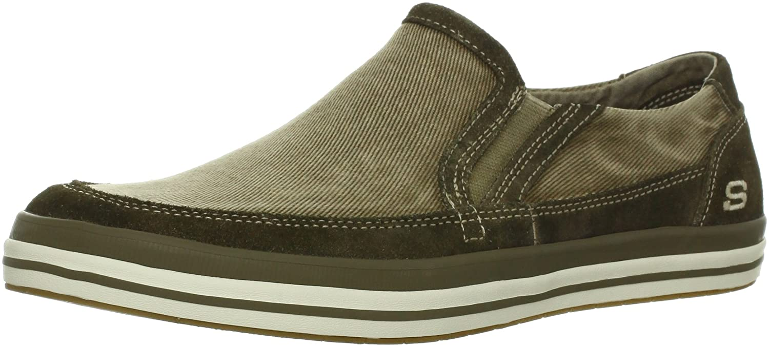 1bc1d411e94 Skechers Diamondback - Sione Mens Brown Textile Sneakers Shoes Size ...