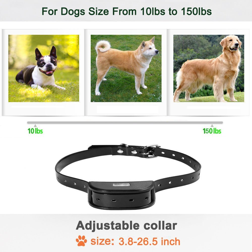 Dog Training Collar Remote – Rechargeable Waterproof Collar Receiver Training Devices with Beep Vibration for All Size Dogs Pet Trainer, Tracking Night Light, 550 Yards Remote Range, Light LCD Screen