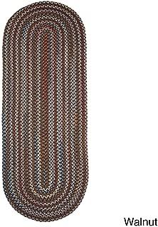 product image for Rhody Rug Augusta Space-Dye Wool Braided Rug Walnut 2' x 6' Runner Wool 6' Runner Runner, Indoor Red Runner