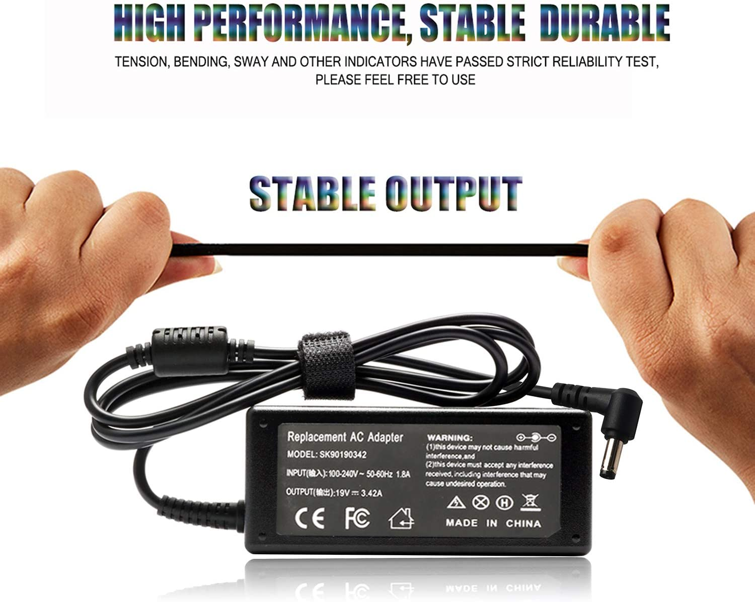 19V AC DC Adapter Charger for JBL Boombox Portable Bluetooth Waterproof Speaker Replacement Power Supply Cord JBL Xtreme Xtreme 2 65W Charger Cable