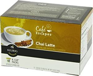 Cafe Escapes Chai Latte, K-Cup Portion Pack for Keurig Brewers, 12-Count