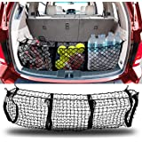 Zento Deals Heavy Duty Stretchable Black Mesh Net Cargo Trunk Storage Organizer- Keeping Things Secured and More…
