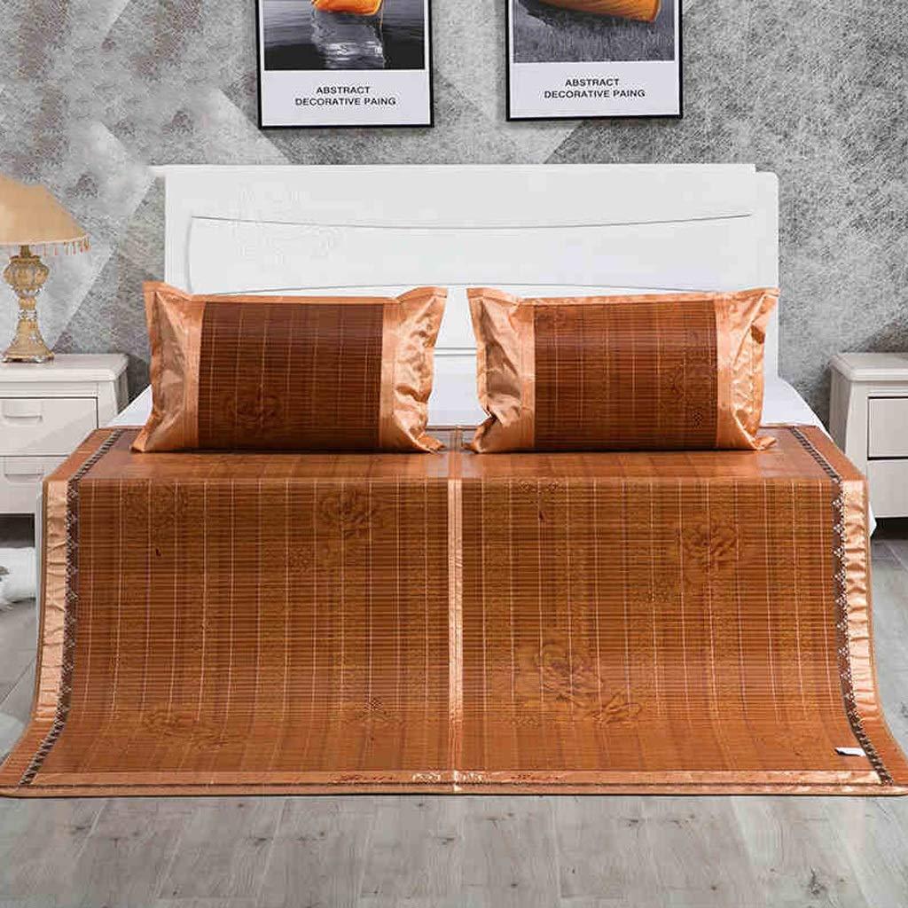 1.51.95m Carbonized Bamboo Summer Sleeping Mat Cooling Mattress Topper Pad (Oriental, Queen) (Size   1.5  1.95m)