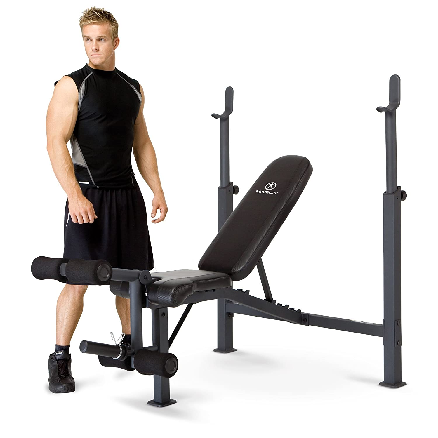 Marcy Competitor Adjustable Olympic Weight Bench with Leg Developer for Weight Lifting and Strength Training CB-729 Impex CB729