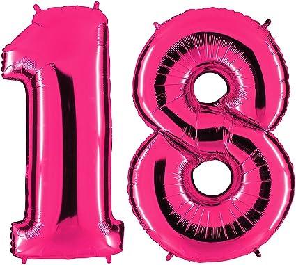 XXL 100cm Riesenzahl Zahl 7 Pink Folienballon Geburtstag mit Helium oder Luft
