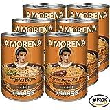 La Morena Frijoles Refritos con Adobo y Chipotle, 440 g