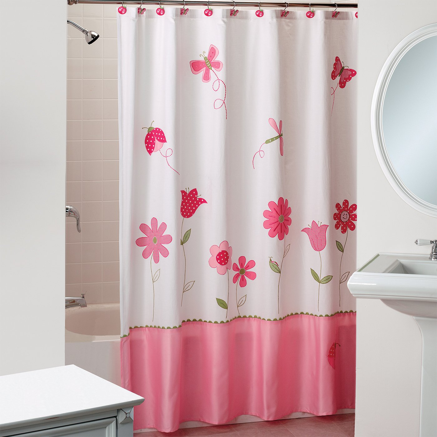 Amazon Saturday Knight Butterfly Garden Fabric Shower Curtain Home Kitchen