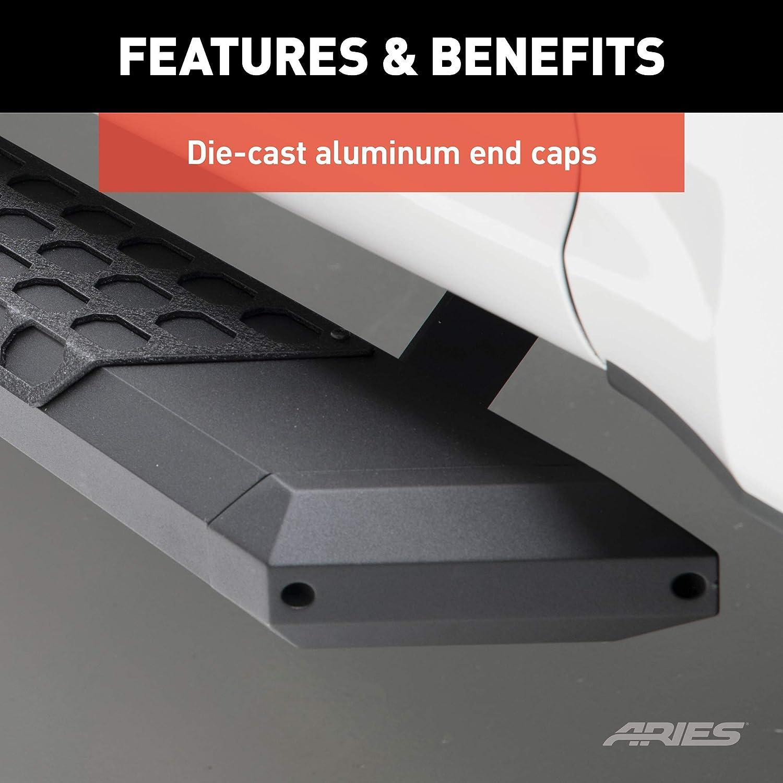 ARIES 2055985 AdvantEDGE Black Aluminum 85-Inch Truck Running Boards Brackets Sold Separately
