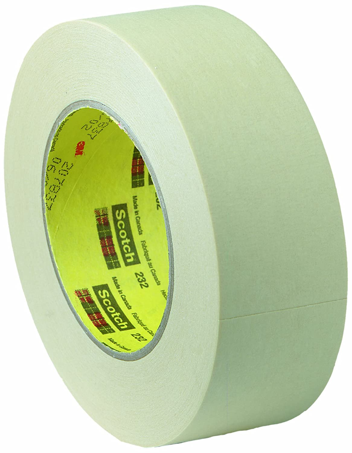 Case of 36 3M Office Products 232-1 Scotch High Performance Masking Tape 232 Tan 24 mm x 55 m