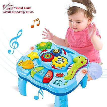Actrinic Table D Etude Musicale Jouet Pour Les Bebes De 6 A 12 Mois Jouet De L Education Precoce Jouet Musical Table De Jeux Jouet Pour Les Enfants De
