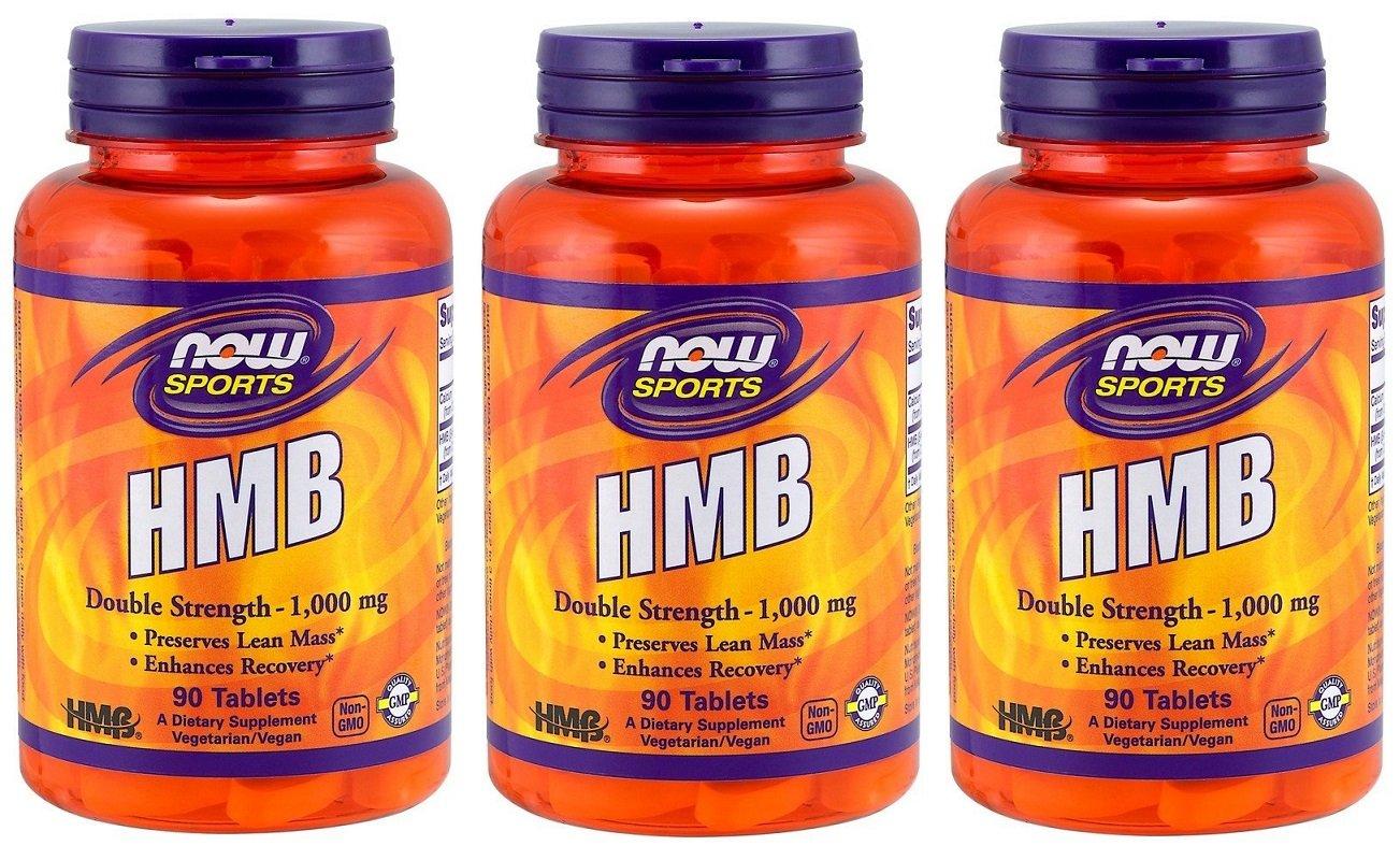 3個セット HMB 1000 mg 90タブレット NOW FOODS 海外直送 B0779NPDP2