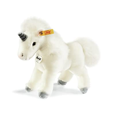 Steiff Starly Unicorn Stuffed Animal with Soft Woven Fur - Premium Plush Toy or Gift for Ages 3 and Up, White: Toys & Games