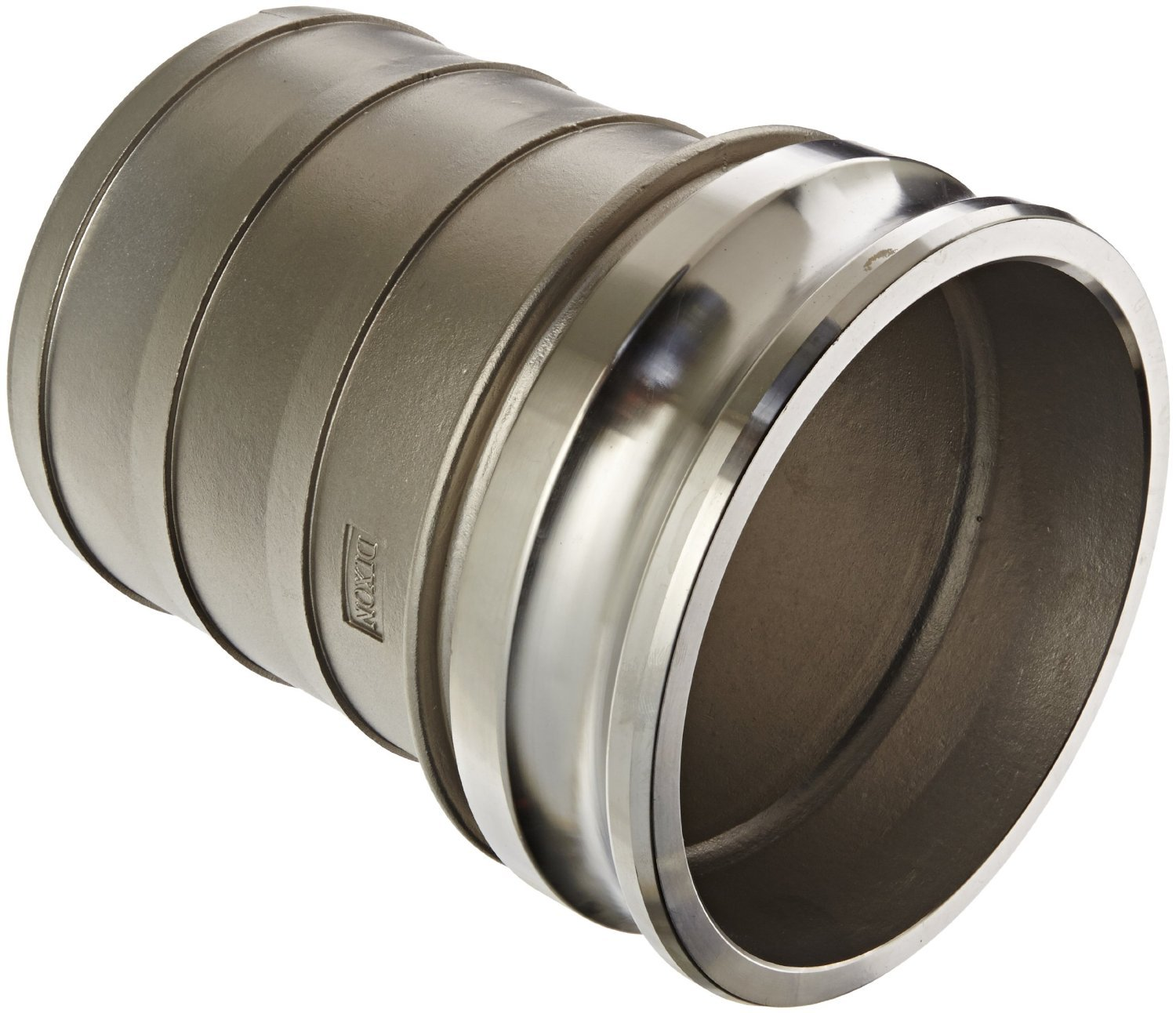 Dixon G600-E-SS Investment Cast Stainless Steel 316 Global Type E Cam and Groove Hose Fitting, 6'' Plug x 6'' Hose ID Push-On