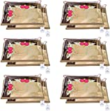 Kuber Industries Non Woven Single Packing Saree Cover 12 pcs Set (Beige) ,CTKNEW102