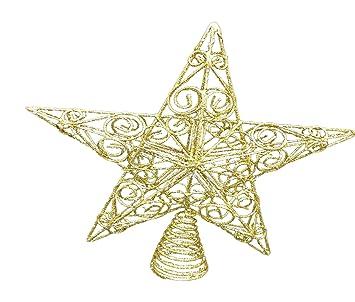 5f5905361f0c Christmas Decorations - 30cm Large Gold Glitter Star Swirls Christmas Tree  Topper