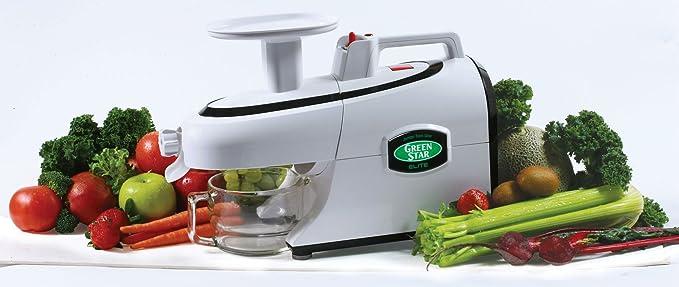 Exprimidor de zumo Green Star Elite GS-5000 en cromo con aspecto ...