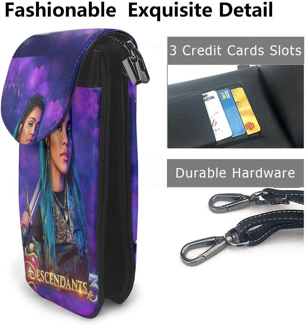 YiwuYshi Descendants 3 Uma Womens Small Crossbody Cell Phone Pocket Mobile Phone Shoulder Bag Card Bag Wallet