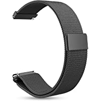 Para Gear S2 Classic Watch /Galaxy Watch (42mm) Correa, 20mm de acero inoxidable Milanese Loop con cierre de cierre magnético ajustable Band para Samsung Gear Sport/S2 Classic Smart Watch (Negro)