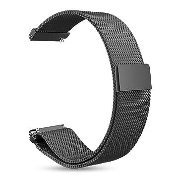 AumoToo Bandes de Remplacement Garmin Vivoactive 3 Fitness Montre 20mm Réglable Milanese Maille Boucle en Acier