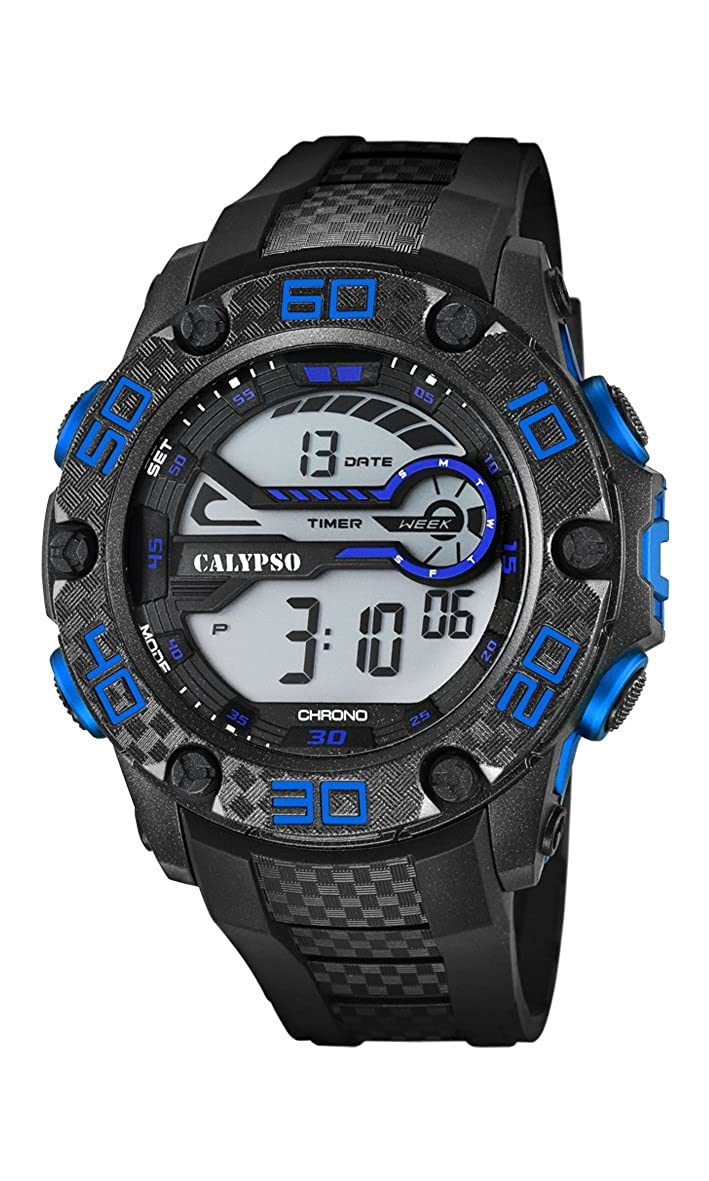 Calypso Watches Reloj Digital para Unisex de Cuarzo con Correa en Caucho K5691_3