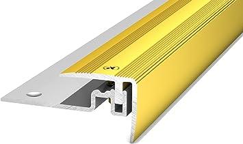 Carl Prinz Perfil Aluminio cantos de escaleras PS 400 oro 30 x 25 x 2500 mm: Amazon.es: Bricolaje y herramientas