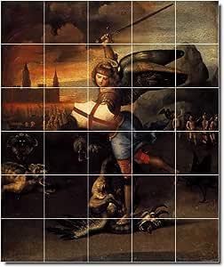Ceramic Tile Mural Raphael Mythology Painting 160 60 W X 72 H 30 12x12 Tiles