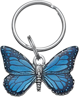 product image for DANFORTH - Butterfly Keyring (Blue) - Pewter - Key Fob - 2 3/4 Inches - Handcrafted - Made in USA
