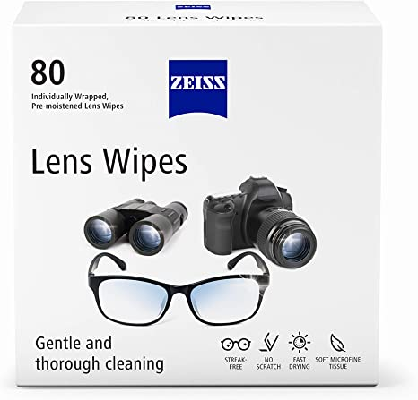 Zeiss Pre Moistened Lens Cleaning Wipes (80 count)