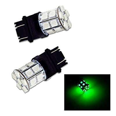 PA 2pcs 3157 3156 3457A 20 SMD LED Auto Stop Light/Tail Light/Turn Signal Light Bulbs Green-12V: Automotive