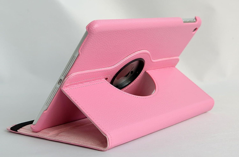 cubierta elegante inShang Fundas soporte y carcasa para Apple iPad mini3 360 grados de rotacion iPad mini1 clase alta 2 in 1 inShang marca negocio Styl iPad mini2 smart cover multiples funciones PU Funda con la funcion inteligente de sueno-despertar