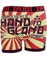 Mens Xplicit Designer Rude Novelty Boxer Trunks Funny Erotic Gift Underwear 2017 Style