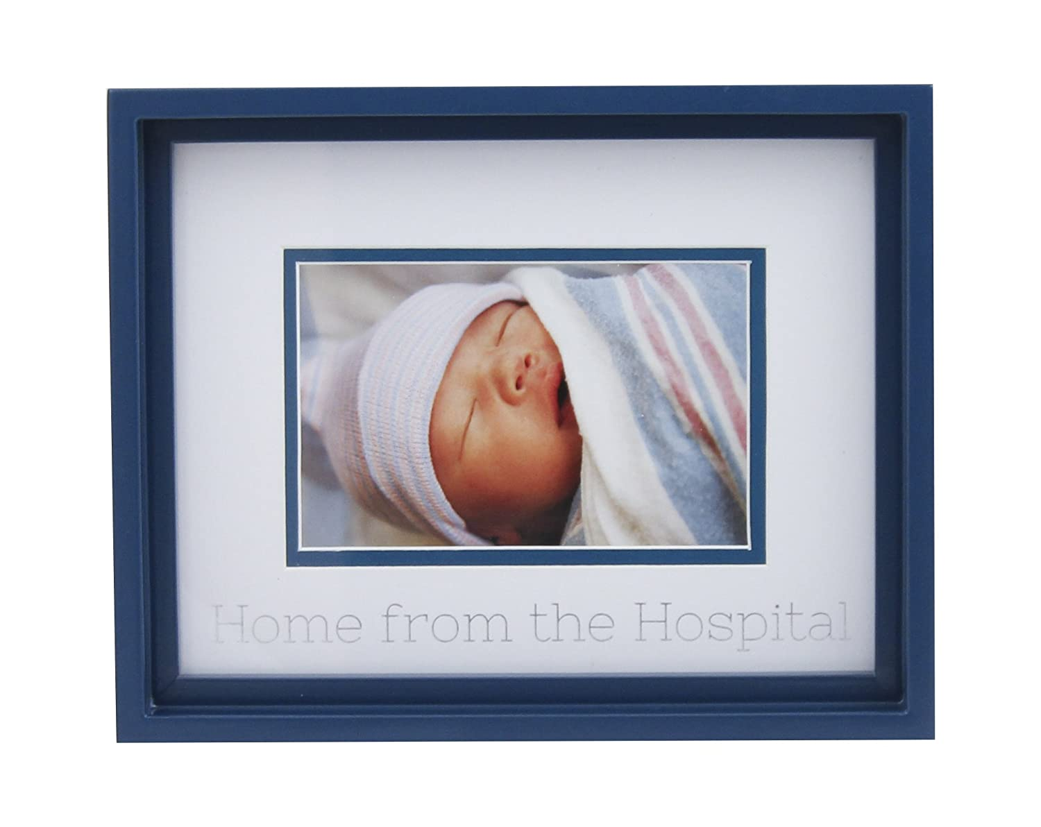 """6x4 Memorable Keepsake Frame for Room Wall or Nursery D/écor Azzure Home Baby Photo Frame for Newborn Girls or Boys Unique Baby Shower Gift for Registry Blue /""""Home from The Hospital/"""""""