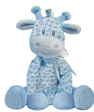 Amazon Com First Main 8 5 Blue Jingles Giraffe Plush Animal