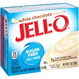 JELL-O Sugar Free Fat Free Instant Pudding & Pie Filling Mix, White Chocolate, 1 Ounce (Pack of 6)