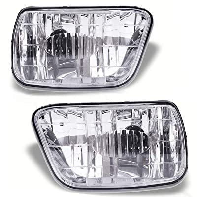 Fog Lights Compatible with Chevy Trailblazer 2002-2009 (Do NOT Fit in 2007-2009 Trailblazer SS Models) Isuzu Ascender 2003-2008 (OE Style Clear Lens w/ 880 12V 27W Bulbs): Automotive