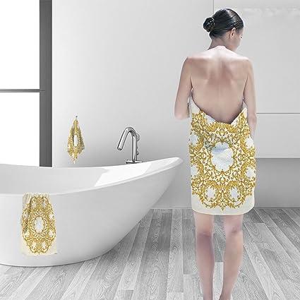 Amazon Com Bath Towel Set Vector Ornament In Victorian