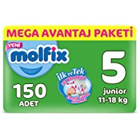Molfix 3D Bebek Bezi, Junior 5 Beden, Mega Avantaj Paketi 150 Adet