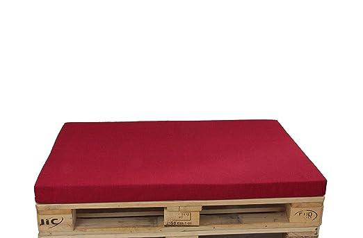 Herlag Cojín para palés Premium, Color Rojo, con Cremallera ...