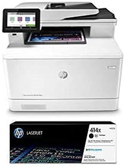 HP Color Laserjet Pro Multifunction M479fdw Wireless Laser Printer (W1A80A) with High Yield Black-Toner-Cartridge