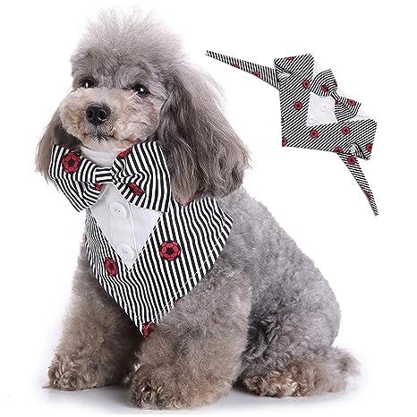 smalllee_lucky_store Bandana de Esmoquin Formal para Perro con ...