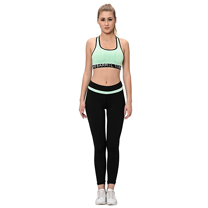 cost charm hot-selling official largest selection of Elina Women's Sports Bra Yoga Pants Gym Outfits Breathable ...