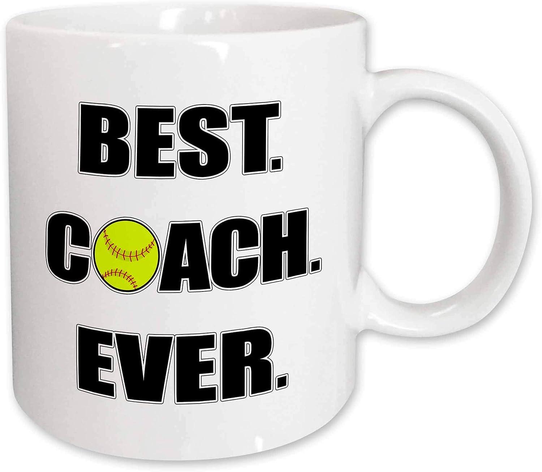Amazon Com 3drose Softball Best Coach Ever Mug 15 Oz White Kitchen Dining