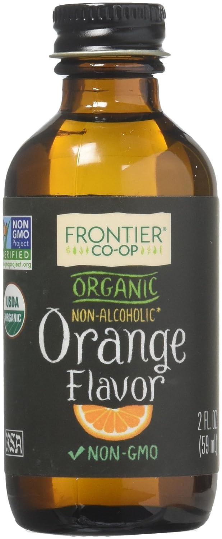 FRONTIER Organic Orange Flavor, 2 FZ