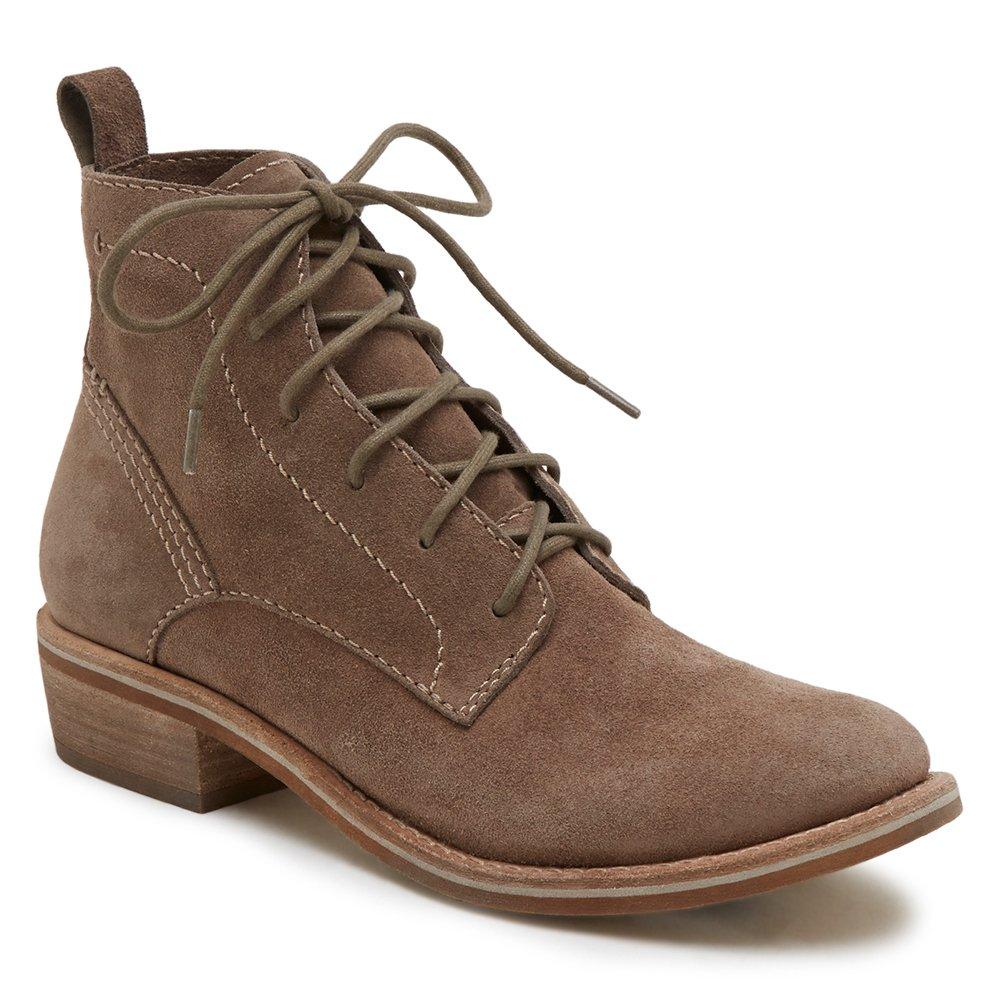 Dolce Vita Women's Seema Ankle Boot, Dark Taupe Suede, 6 Medium US